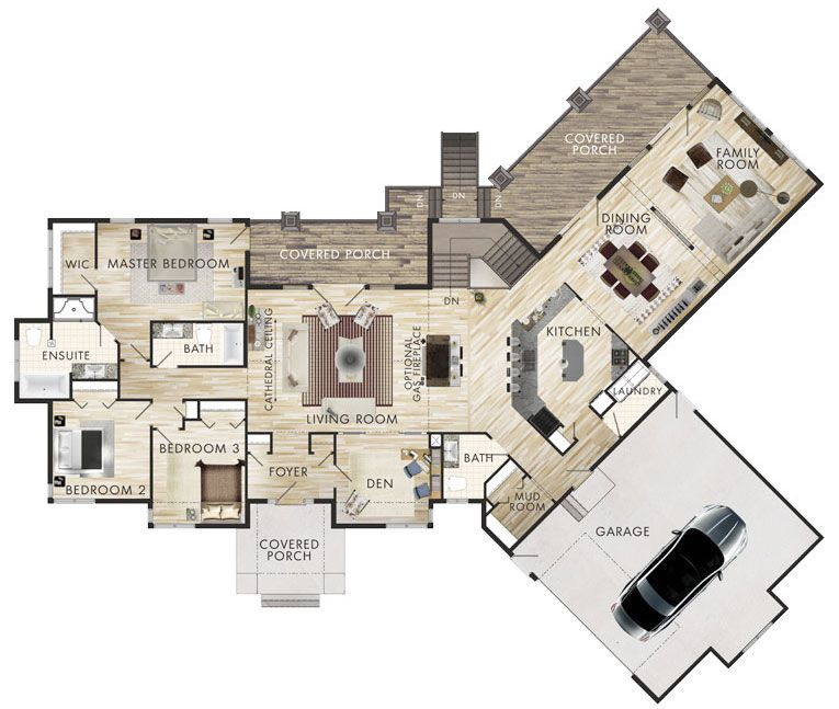 1 3 Plano De Casa Grande Dormitorios Piso House Layout Ideas