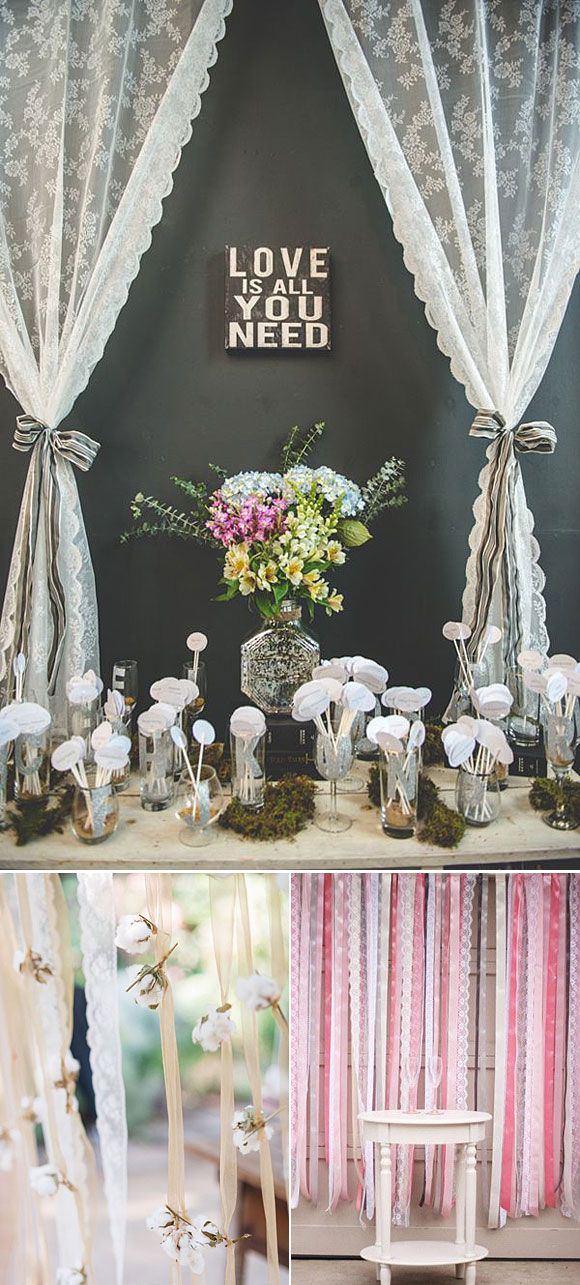 10 Ideas Para Decorar Tu Boda Con Encaje Pinterest Las Fotos