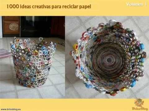 1000 Manualidades Creativas Reciclando Papel YouTube