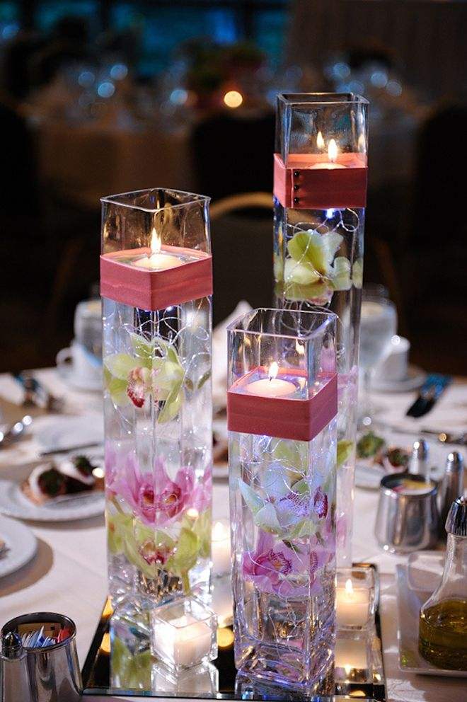 12 Stunning Wedding Centerpieces Part 16 Velas Flotantes