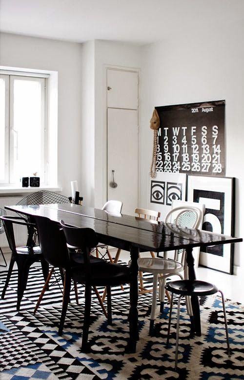15 Comedores Decorados En Blanco Y Negro HOUSE Pinterest