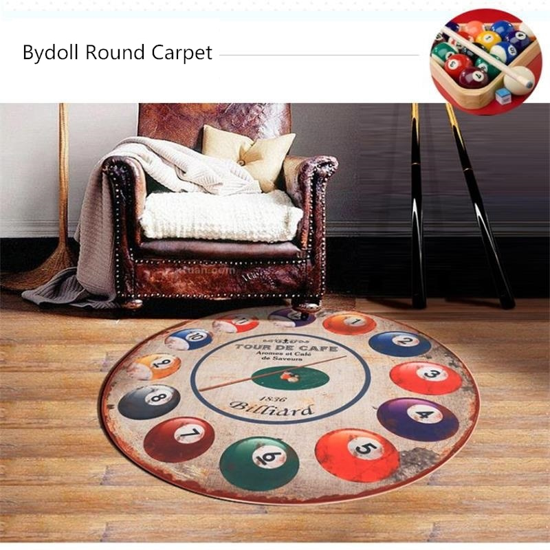 160CM Diameter Round Billiards Doormat Rugs And Carpets For Living