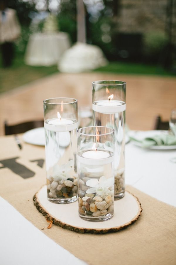 17 Centros De Mesa Para Bodas Con Velas Flotantes And Wedding