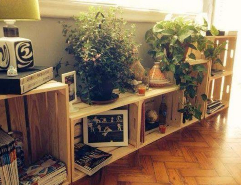 18 IDEAS ORIGINALES PARA DECORAR CON CAJAS DE FRUTAS