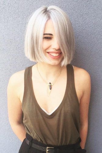2018 Chic Blunt Bob Hairstyles Haircuts Short
