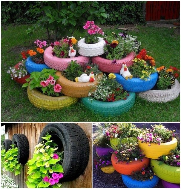 24 Cool DIY Ideas How To Reuse Old Tyres Cosas Al Aire Libre Que