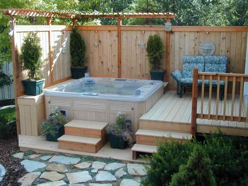25 Stunning Garden Hot Tub Designs Home
