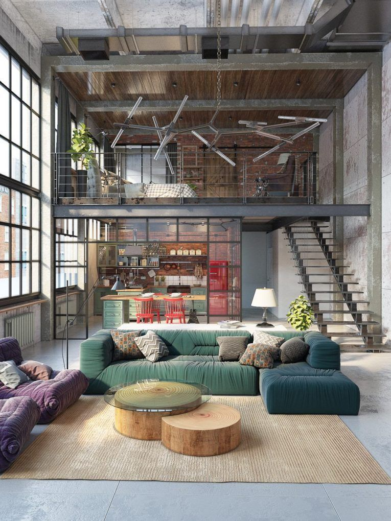 3 Countries Dazzling Industrial Lofts House Pinterest Casas