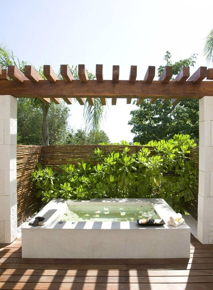 31 Soothing Outdoor Spa Ideas For Your Home DigsDigs Exterior