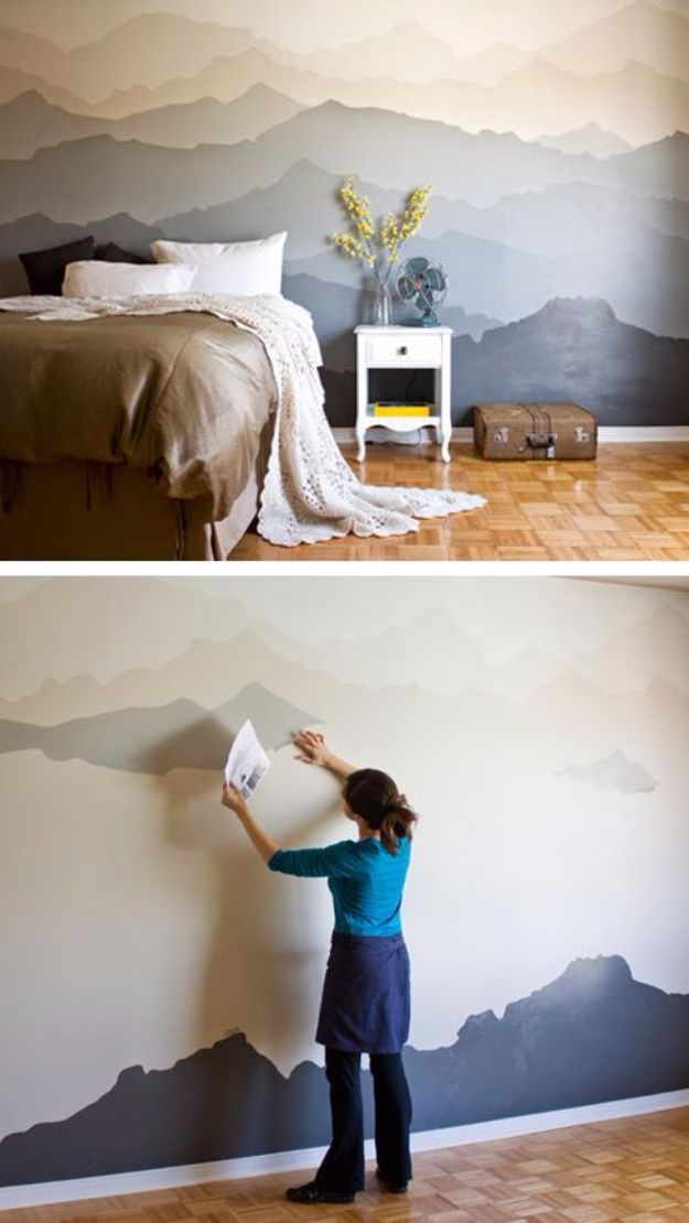 34 Cool Ways To Paint Walls Home DIY Pinterest Bedroom House