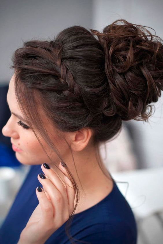 40 Chic Updo Hairstyles For Bridesmaids Hair Pinterest