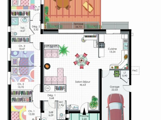 41 Lovely Collection Of Plan Maison 150m2 Example Design Home