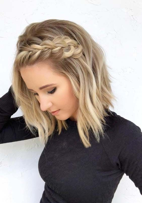 41 Pretty Braids For Short Blonde Haircuts In 2018 Hair Styles