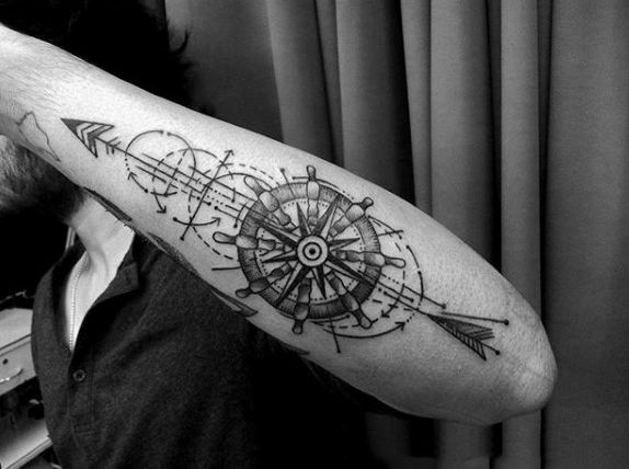 75 Line Tattoos For Men Minimal Designs With Bold