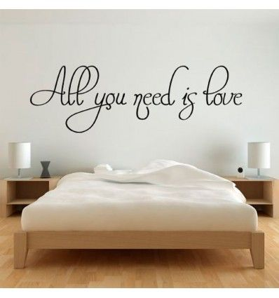 All You Need Is Love Wall Drawing Pinterest Vinilos