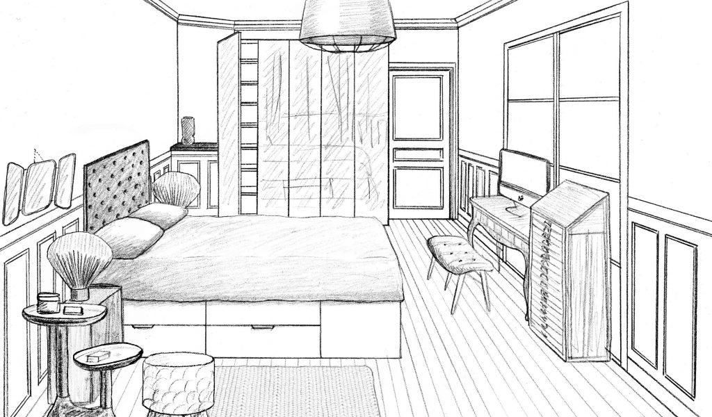 Amazing Dessiner Une Chambre En Perspective De Design Photos