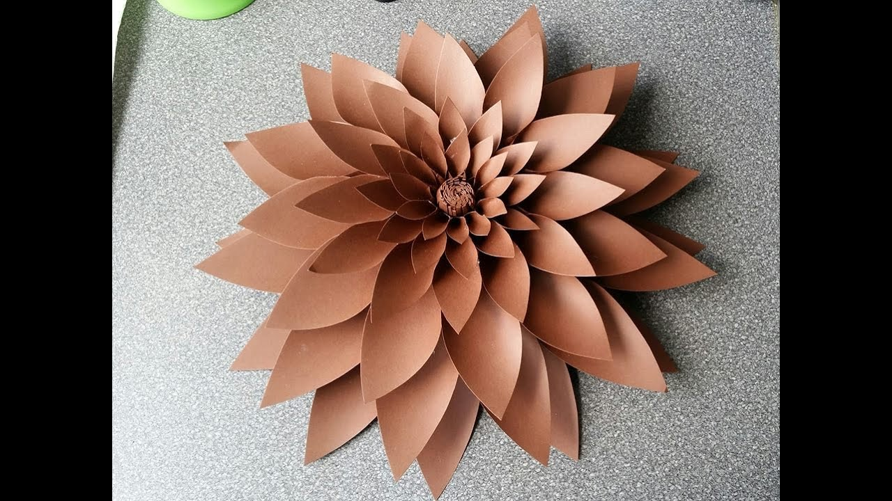 Amber Paper Flower YouTube