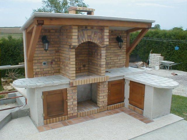 Barbecue En Brique Fait Maison Fashion Designs Beton