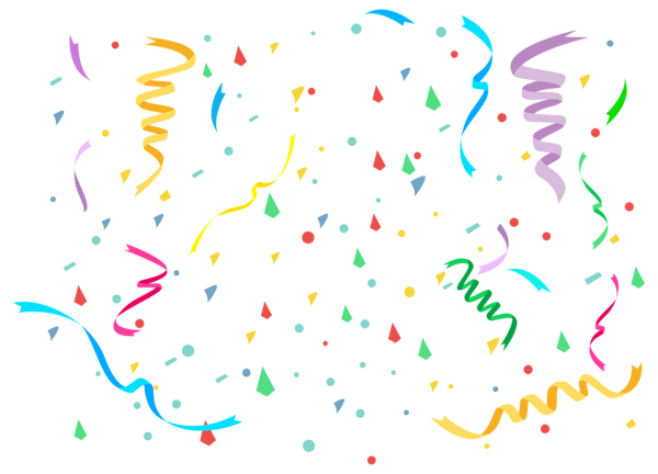Birthday Confetti Background Png Party PNG Clip Art Image