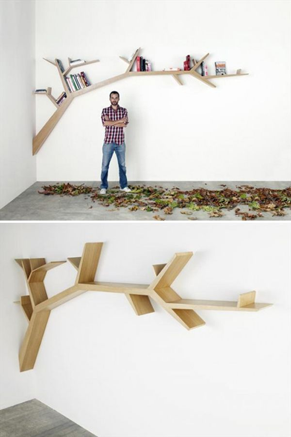 Branch Bookshelf Making It All Fit And Look Good