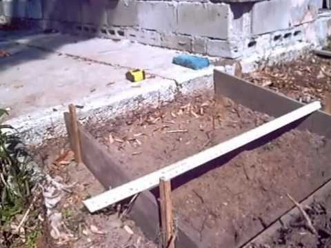 BUILDING A SMALL CONCRETE RAMP YouTube House Floor Plans With
