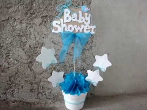 Centro De Mesa Para Baby Shower Ni O YouTube