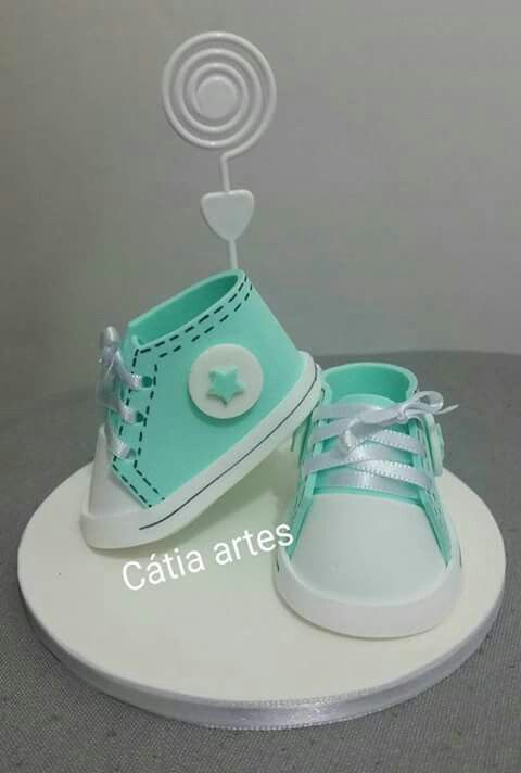 Centro De Mesa Zapatito Baby Shower Pinterest Mesas