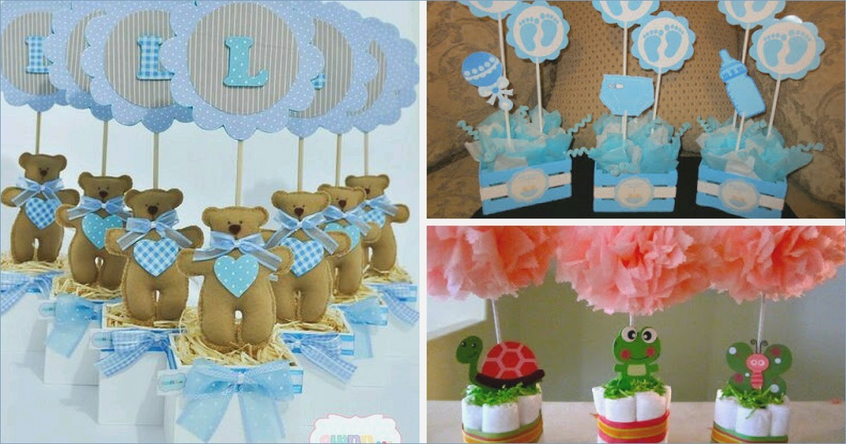 Centros De Mesa Para Baby Shower Ni O Tomorrowliving Me Nic2b1o