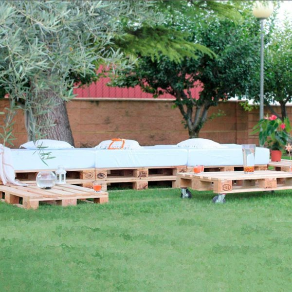 Chill Out Muebles Jardin Seville Puff Ruedo