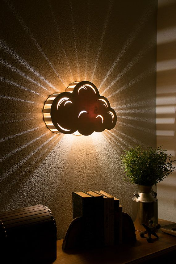Cloud Night Light Wall Hanging Baby Kid S Room Lamp Nature