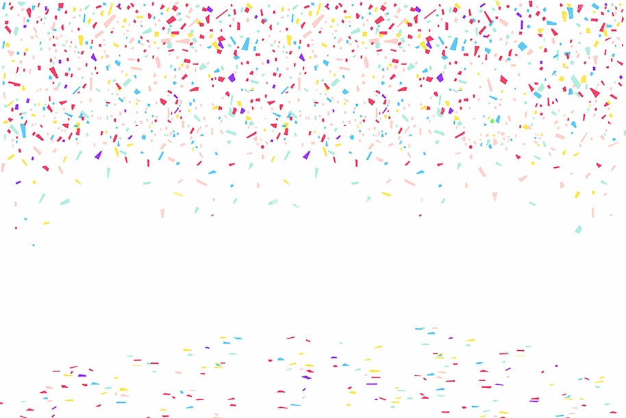 Colorful Confetti On White Backgroun By Volyk TheHungryJPEG Com