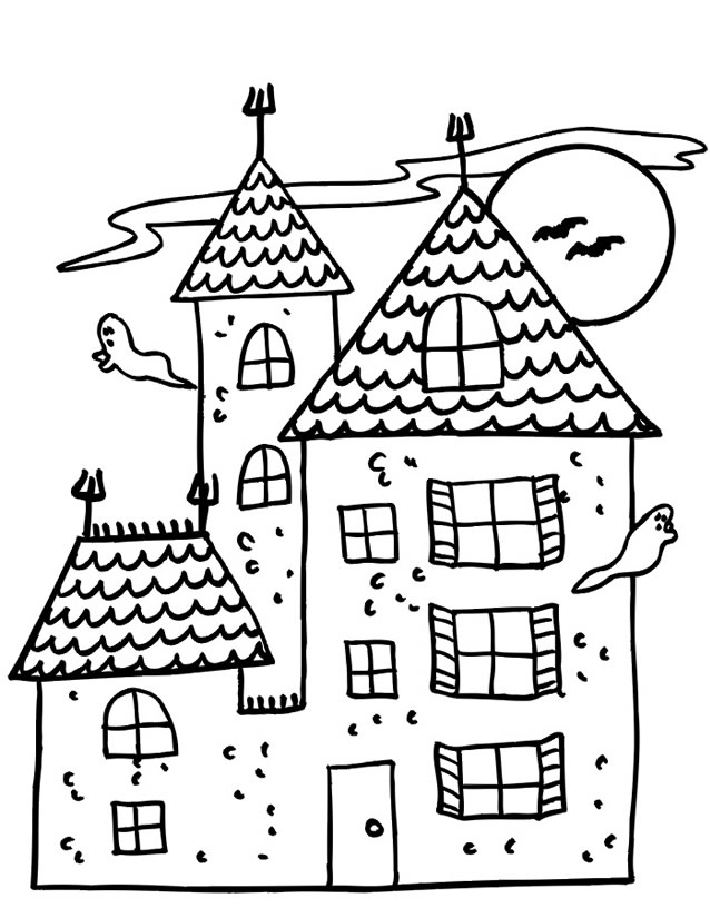 Dessin De Maison Facile Coloriage Duun Moulin Simple Les