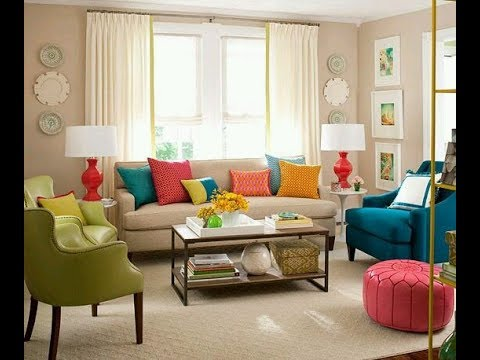 COMO DECORAR TU SALA CON COLORES VIVOS YouTube