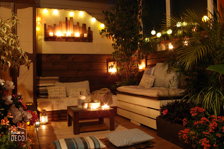 Como Hacer Chill Out Con Palets Luces Terrazas With