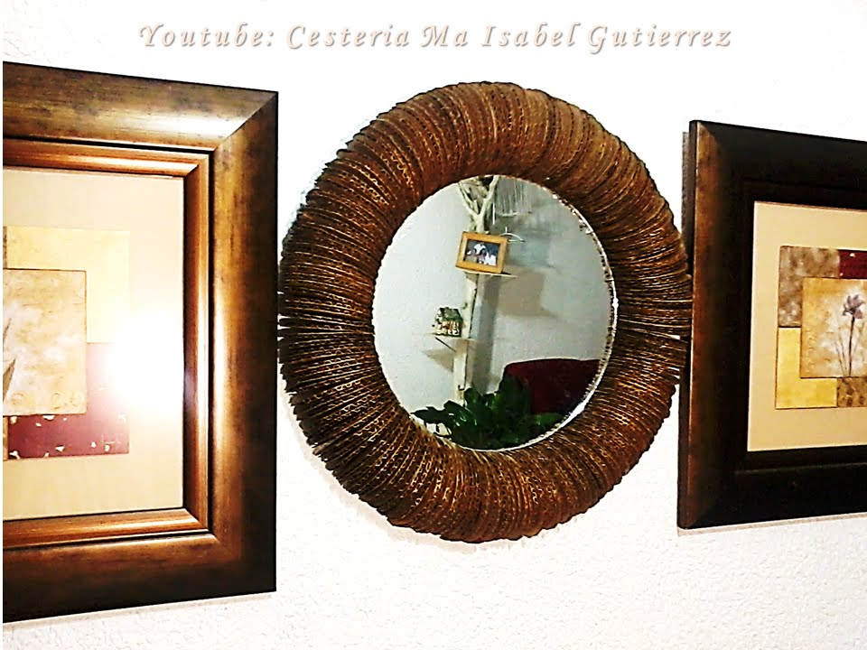 Como Hacer Un Marco Para Espejo DIY How To Make A Frame For Mirror