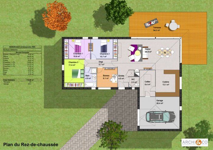 Construction Maison Plan Avec Terrasse Plans