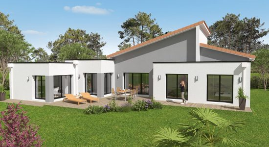 Construction Plan Maison Contemporaine Pornic Oc Ane Habitat