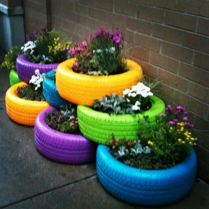 Cool Way To Re Use Tyres Recycle Planters Garden