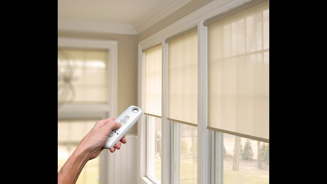 Cortinas Roller El Ctricas Per Hunter Douglas YouTube