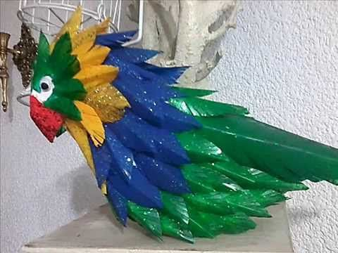 Cotorros Hechos De Materiales Reciclados DIY Birds Made Of