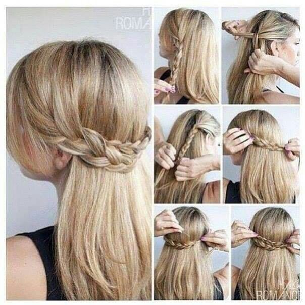 Cute Updos For Long Hair Peinados Pinterest Trenzas Cabello Y