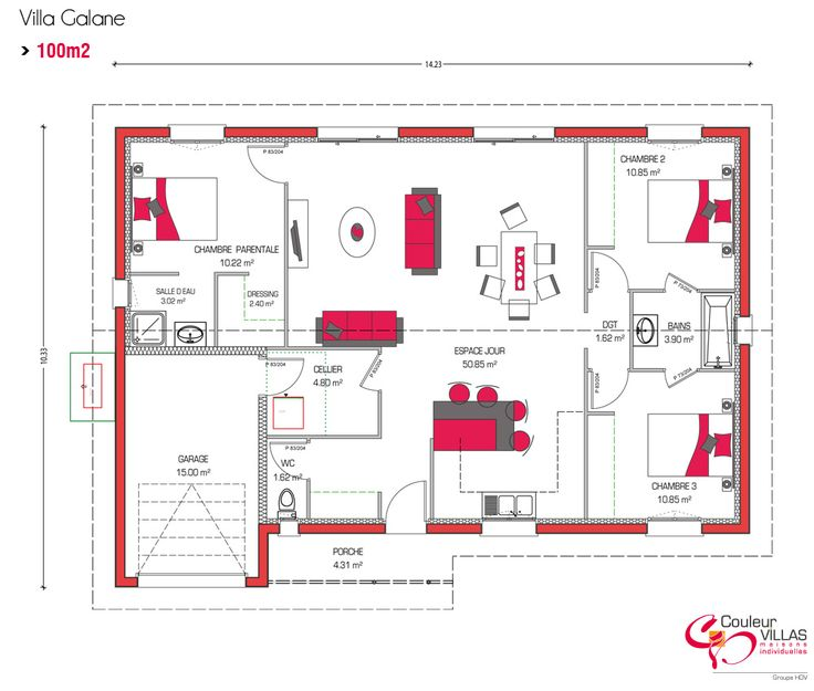 D Co Salon Couleur Villas Vous Propose Des Plans De Maison Moderne