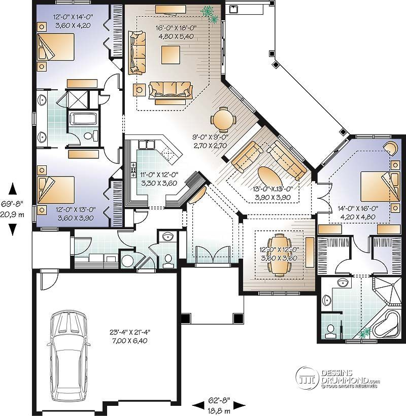D Tail Du Plan De Maison Unifamiliale W3258 Plans Maisons