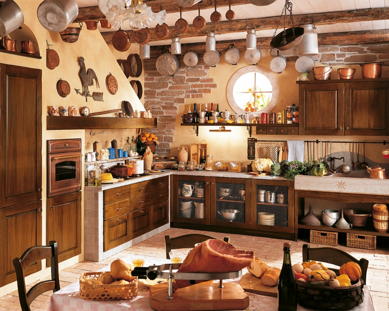 Decoraci N De Cocinas R Sticas 50 Ideas Originales Geniales Como