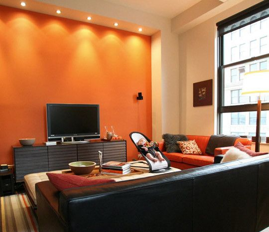 Decoraci N Salas Color Naranja Home Ideas En 2018 Pinterest