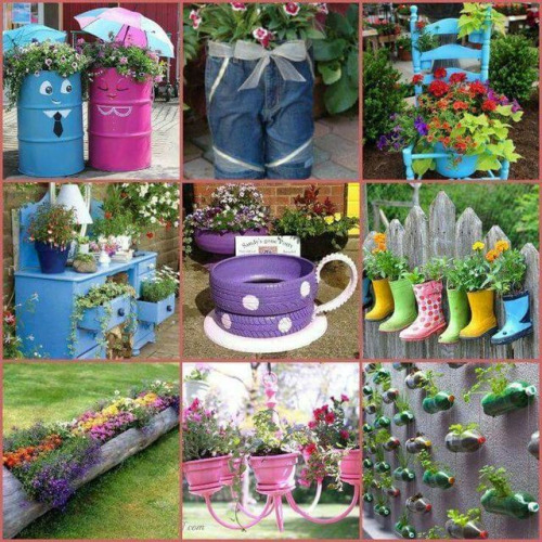 Decoracion De Jardines Con Material Reciclable