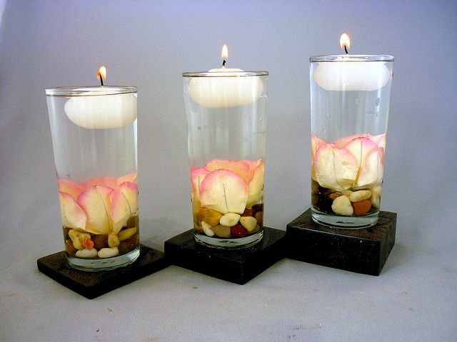 Decoracion De Mesas Con Velas Flotantes Eventos Of
