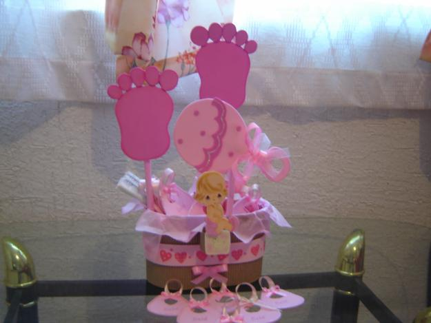 Decoracion Para Mesas En Baby Shower Nia