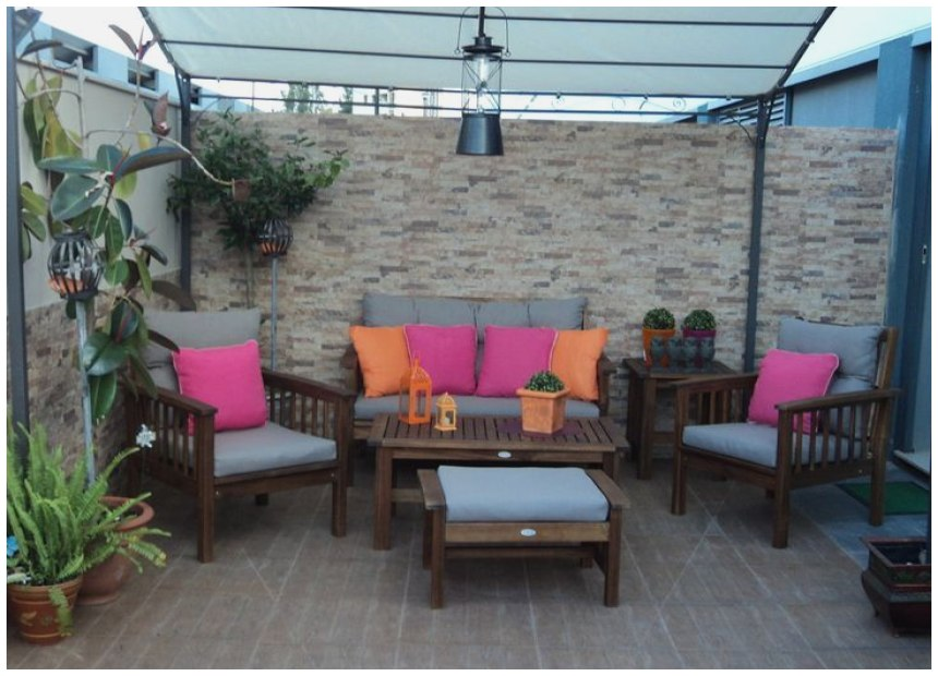 Decoracion Patio Interior Pequeo Cheap Hermoso
