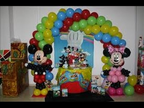 Decoraciones Infantiles Con Globos Decoracion Para Fiestas YouTube